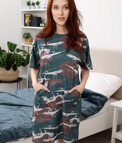 Chemise de nuit avec poche kangourou goblin blue